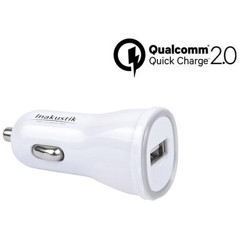 In - Akustik Caricabatterie da Auto USB