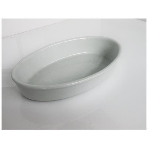 Fimel Pirofila In Porcellana Bianca Ovale, Dimensioni 28x17x5 Cm.