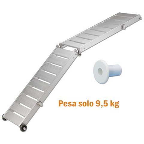 Passerella Pieghevole Pianale In Alluminio Antiscivolo 200x36 Cm 10 Kg