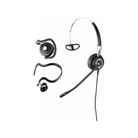 JABRA Biz 2400 II QD Mono NC 3-in-1 Wideband Monofonico Aggancio, Padiglione auricolare, Passanuca Nero, Argento cuffia e auricolare