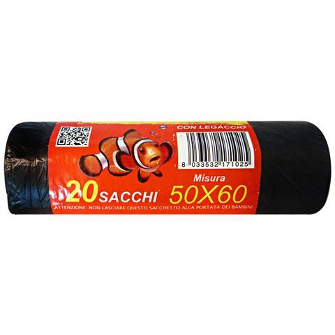 Irge Sacchi 50x60 Neri X 30 Pezzi Riordino