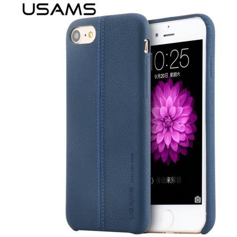 Usams Custodia Cover Di Protezione Joe Leather Hard Case Blu Per Iphone 7 Plus