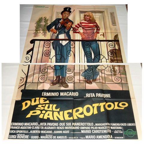 Vendilosubito Manifesto A4 Originale Del Film Due Sul Pianerottolo 1976