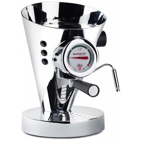 Macchina Caffé Espresso Manuale Diva Capacità Serbatoio 0,8 Litri Potenza 950 Watt Colore Cromato