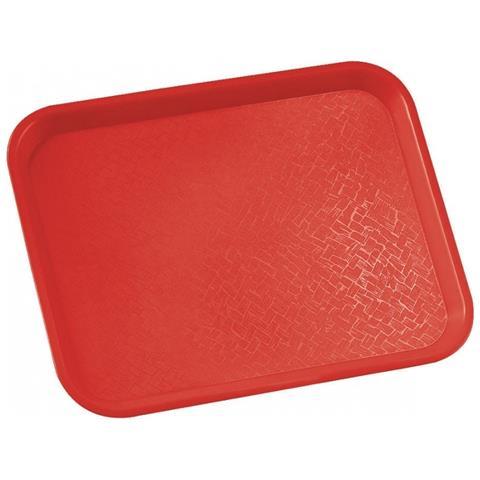Vassoio Fast Food Rettangolare 34,5x27cm Vari Colori - Rosso