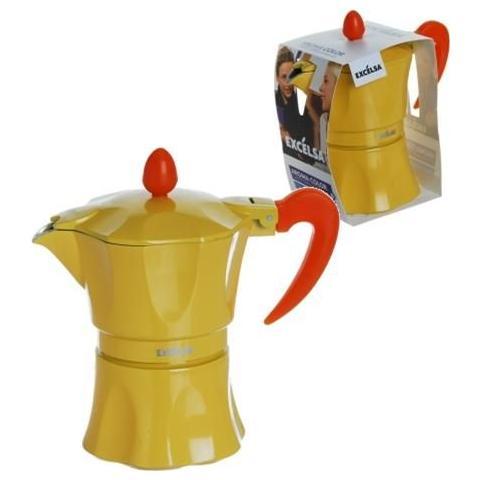 Caffettiera 3 Tazze - Modella Aroma Color Giallo