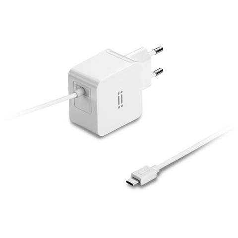 AIINO Samsung Wall Charger 2A w / built-in Micro USB cable - White