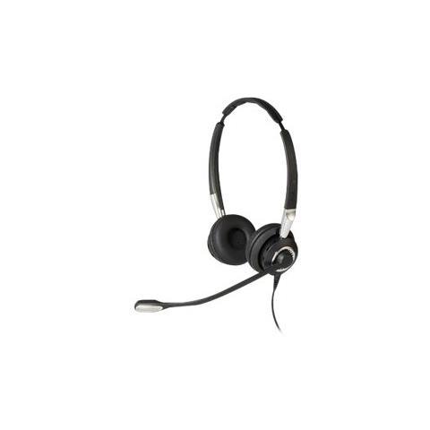 JABRA BIZ 2400 II QD Duo NC WideBand, USB, Sovraurale, Nero, Stereofonico, Padiglione auricolare, Cablato