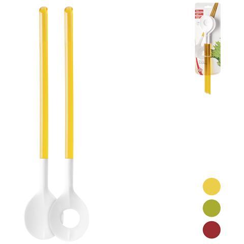 HOME Coppia Posate Colori Assortiti Cm33 Strumenti Da Cucina