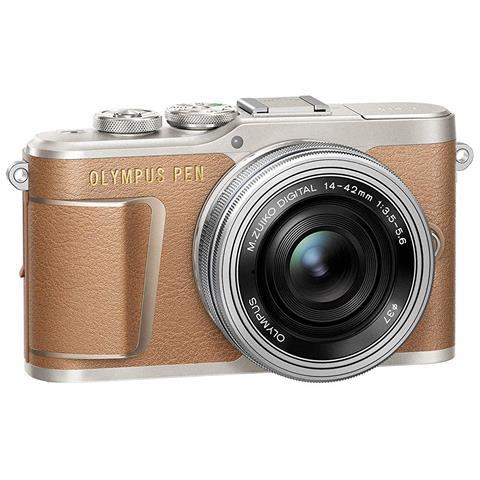 Fotocamera Mirrorless Olympus PEN E-PL9 + 14-42mm Colore Marrone