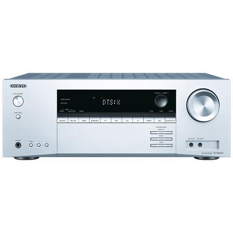 ONKYO TX-NR474 5.1canali Surround Compatibilità 3D Argento ricevitore AV