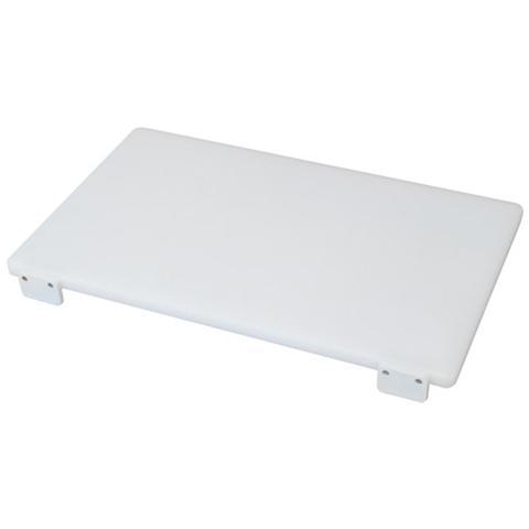 Tagliere in polietilene professionale con fermi colore bianco Cm 40x60x2