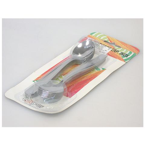 Caper Confezione 12 Cucchiaino Da Cappuccio Inox Posate
