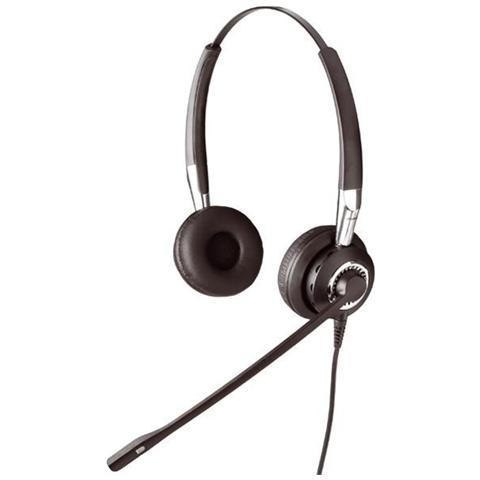 JABRA Biz 2400 II QD Duo NC Stereofonico Padiglione auricolare Nero, Argento cuffia e auricolare
