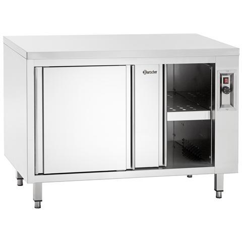 347207 Armadio in inox riscaldato con ripiano 2000x700x850-900 mm