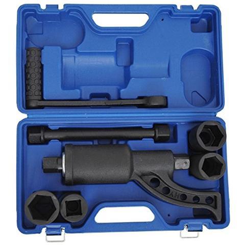 HOMCOM - Set 8 pezzi chiavi a bussola ed accessori in valigetta blu 40 x 23  x 12 cm 433c83e6a957