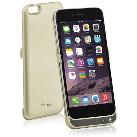 FONEX Power Skin Cover con Batteria Incorporata 3000 mAh per iPhone 6/6S Colore Oro