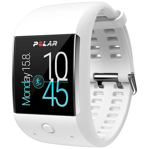 "Polar Sportwatch M600 Resistente all'Acqua IPX8 Display 1.3 "" 4GB WiFi / Bluetooth con GPS Smart Coaching e Cardiofrequenzimetro Bianco - Italia"