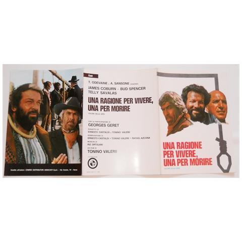 Vendilosubito Brochure 3 P. Originale Film Una Ragione Per Vivere Una Per Morire Bud Spancer