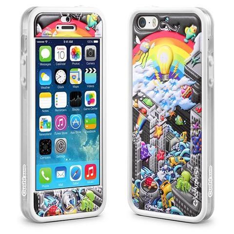 ID AMERICA BUMPER CUSHI PLUS RAINBOW iPhone 5/5S / SE