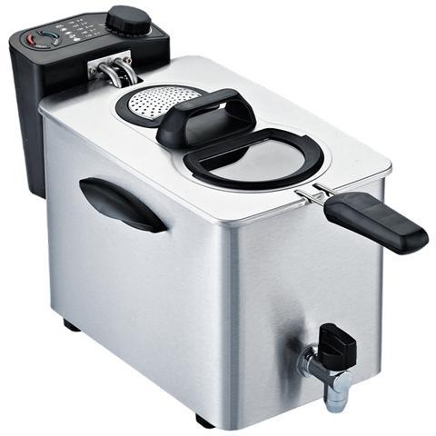 Fry Type 4 Friggitrice Potenza 2500 Watt Capacitò 4 Litri Colore Silver