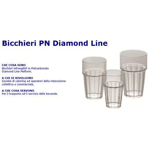 Bicchieri Pn Diamond Line In Policarbonato Trasparente - 25