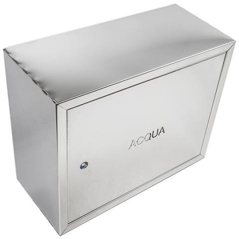 Cassetta cassonetto contenitore inox per contatore acqua, misura h 40 x l 55 x p 20cm