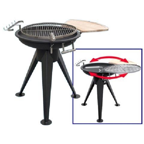 Barbecue a carbone o legna con struttura in acciaio e inox