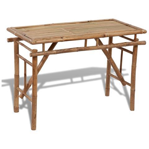 Tavolo Pieghevole In Legno Di Bambù