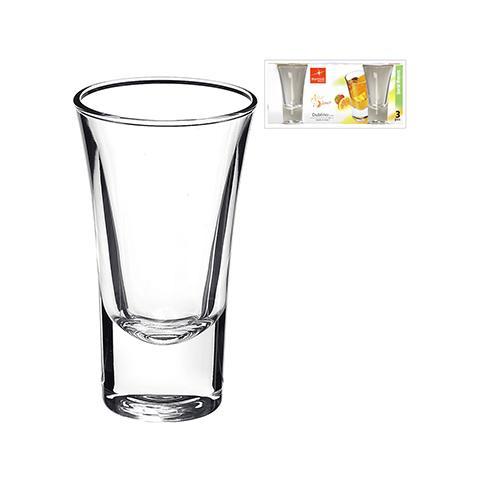 Set 6 X 3 Bicchieri In Vetro Dublino Marsala 5.7 Tavola