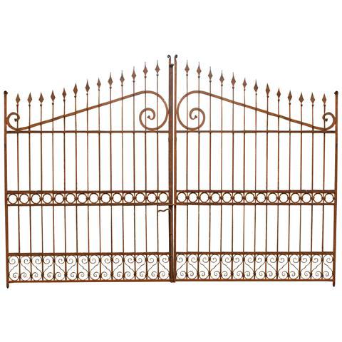 Cancello In Ferro Pieno L402xpr4xh263 Cm