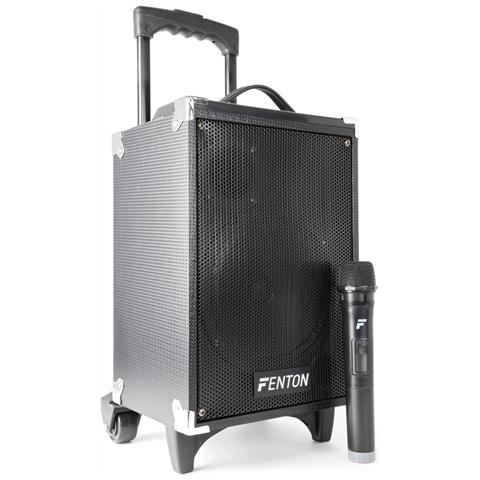 FENTON Cassa Amplificata Trolley Ricaricabile 260w 8'' Usb-sd + Mic. Wir Art. 170050
