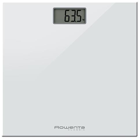 ROWENTA Bilancia Pesapersone Digitale con Piatto in Vetro Colore Bianco