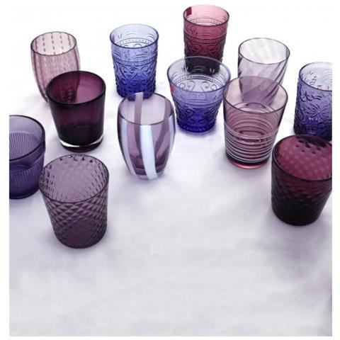 Set 6 Bicchieri Melting Pot Tumbler Assortiti Ametista