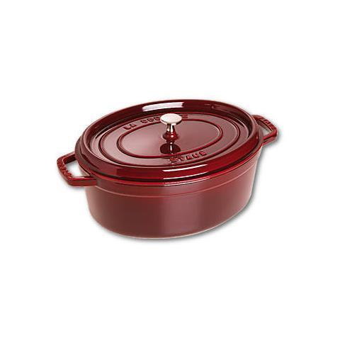 Cocotte in Ghisa con Coperchio Diametro 33 cm Capacità 6.7 lt Colore Rosso - Linea La Cocotte
