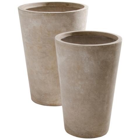 BIACCHI Set 2 Vasi Colore Beige