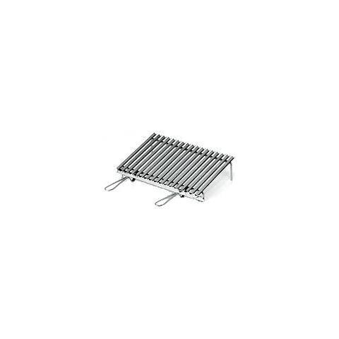 Graticola In Acciaio Inox Da Cm. 60 X 40 Con Sistema Di Recupero Grassi - 20650