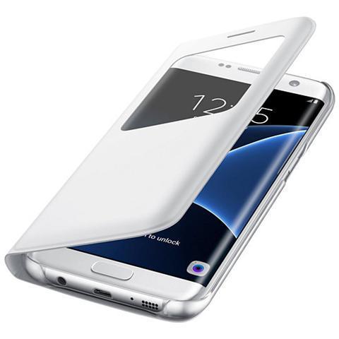 SAMSUNG S View Flip Cover Custodia per Galaxy S7 Edge - Bianco