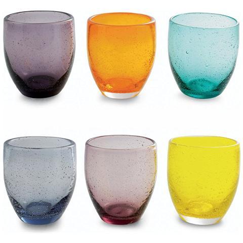 6 Bicchieri Acapulco Cascina - Assortiti