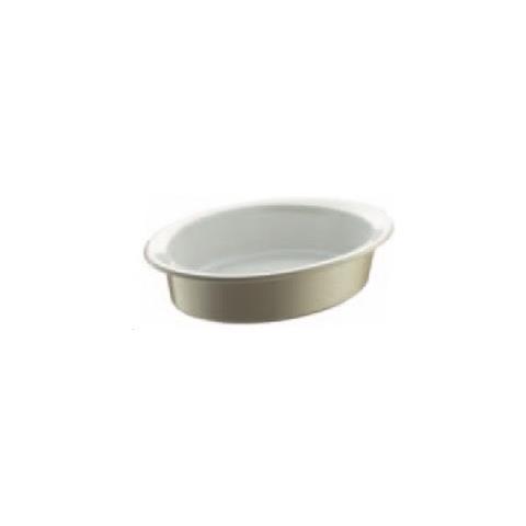 Rostiera Ovale Beige Stoneware 20 X 14 Cm