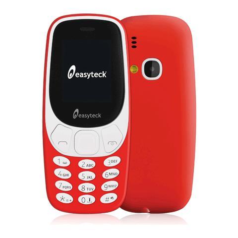 EASYTECK B310 Colore Rosso Dual Sim Bluetooth Fotocamera Radio Torcia Organizer