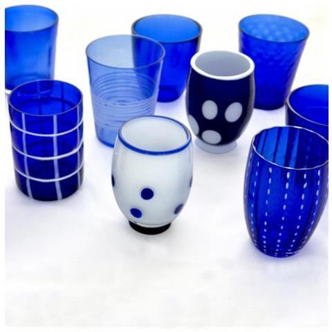 Set 6 Bicchieri Melting Pot Tumbler Assortiti Blu