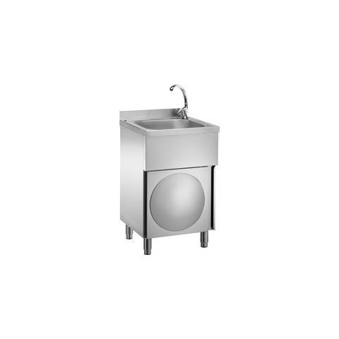 Lavamani Inox Con Miscelatore Ristorante Pizzeria Cm 50x50x85 Rs7148