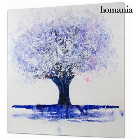 Homania Dipinto Olio Albero By