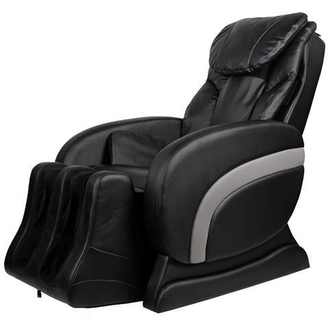 vidaXL Sedia Reclinabile Massaggiante Elettrica In Pelle Artificiale Nero