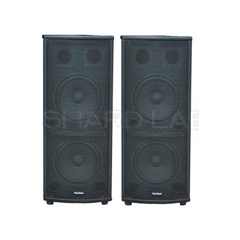Plug & Sound Coppia Casse Amplificate Karaoke Home 1000w Doppi Woofer 26 Cm Bluetooth Art. Shard1010