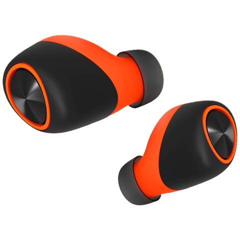 MOTOROLA Auricolari con Microfono per Smartphone Colore Nero Arancione