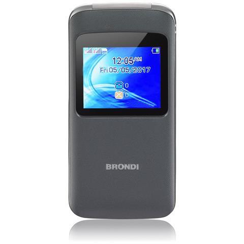 """BRONDI Window Dual Sim Display 1.77 """" + Slot MicroSD Fotocamera 1.3Mpx Colore Grigio - Italia"""