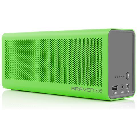 Image of 805, Senza fili, Bluetooth / 3.5mm / USB, Bluetooth, A2DP, AVRCP, GAVDP, HFP, HSP, Soundbar, Verde, Grigio