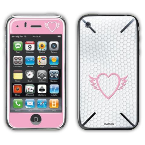 SMARTBUNNY Pellicola adesiva SKIN FLYNING HEART per iPhone